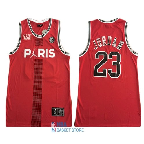 Achat Maillot Collaboration Maillot Basket-ball Jordan x Paris Saint-Germain NO.23 Jordan Rouge