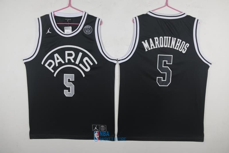 Achat Maillot Collaboration Maillot Basket-ball Jordan x Paris Saint-Germain NO.5 Marquinhos Noir
