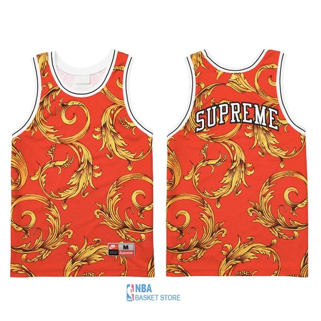 Achat Maillot Collaboration Maillot Basket-ball Supreme x Nike Air Foamposite Rouge