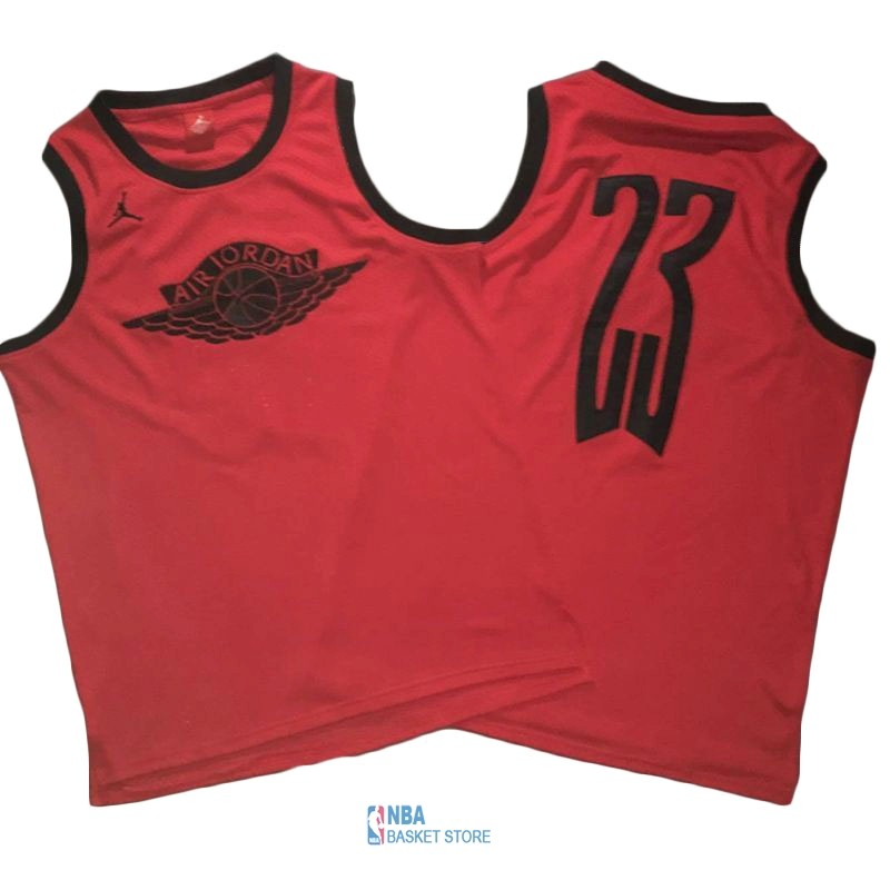 Achat Maillot NBA Chicago Bulls NO.23 Michael Jordan Flying Wing Logo Rouge
