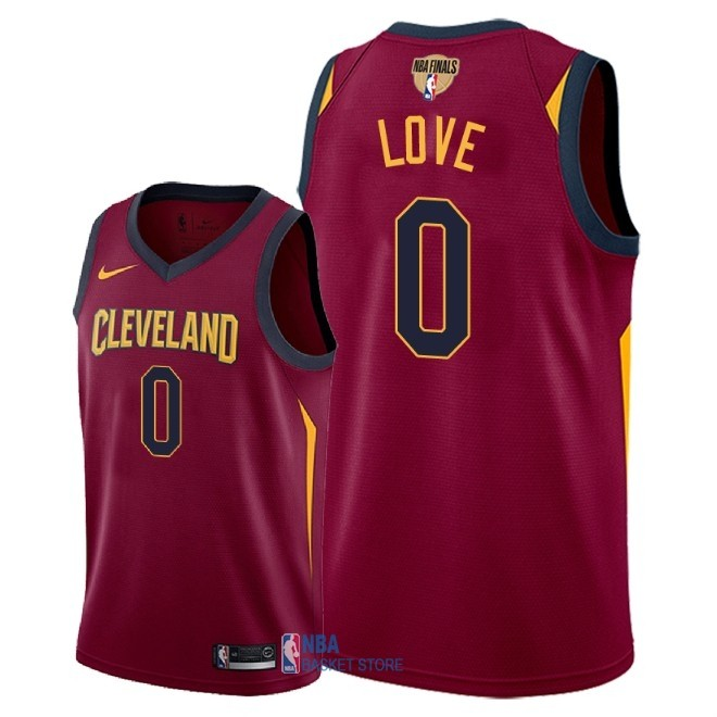 Achat Maillot NBA Cleveland Cavaliers 2018 Final Champions NO.0 Kevin Love Rouge Icon Patch