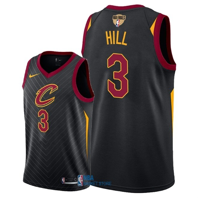Achat Maillot NBA Cleveland Cavaliers 2018 Final Champions NO.3 George Hill Noir Statement Patch