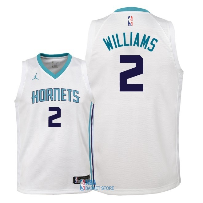 Achat Maillot NBA Enfant Charlotte Hornets NO.2 Marvin Williams Blanc Association 2018