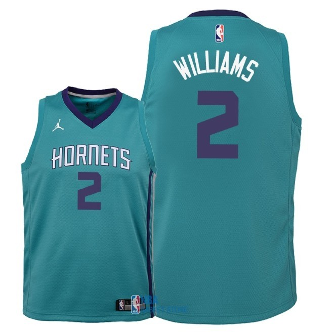 Achat Maillot NBA Enfant Charlotte Hornets NO.2 Marvin Williams Vert Icon 2018