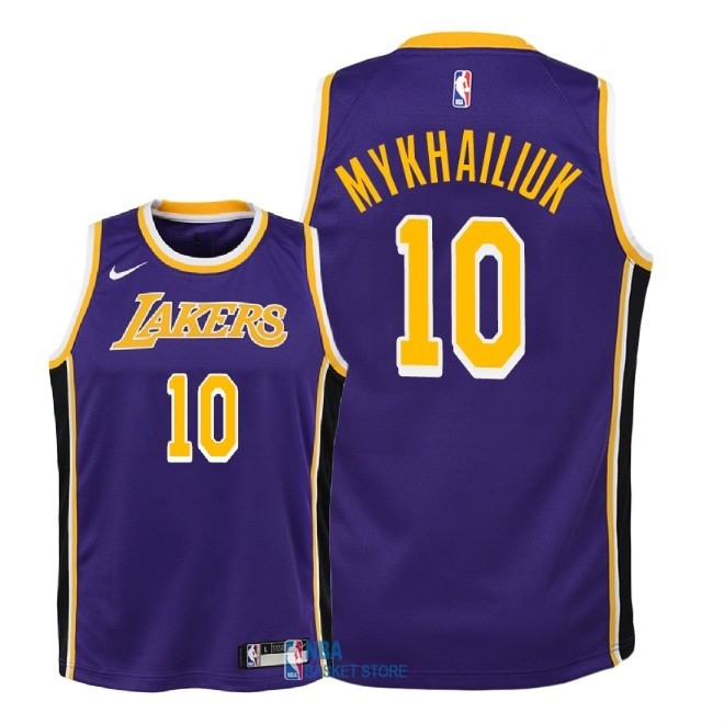 Achat Maillot NBA Enfant Los Angeles Lakers NO.10 Sviatoslav Mykhailiuk Pourpre Statement 2018-19