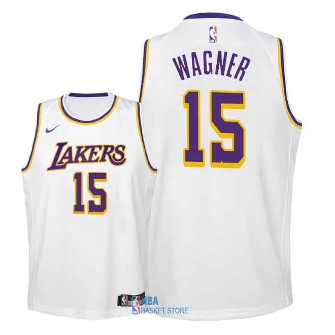 Achat Maillot NBA Enfant Los Angeles Lakers NO.15 Moritz Wagner Blanc Association 2018-19