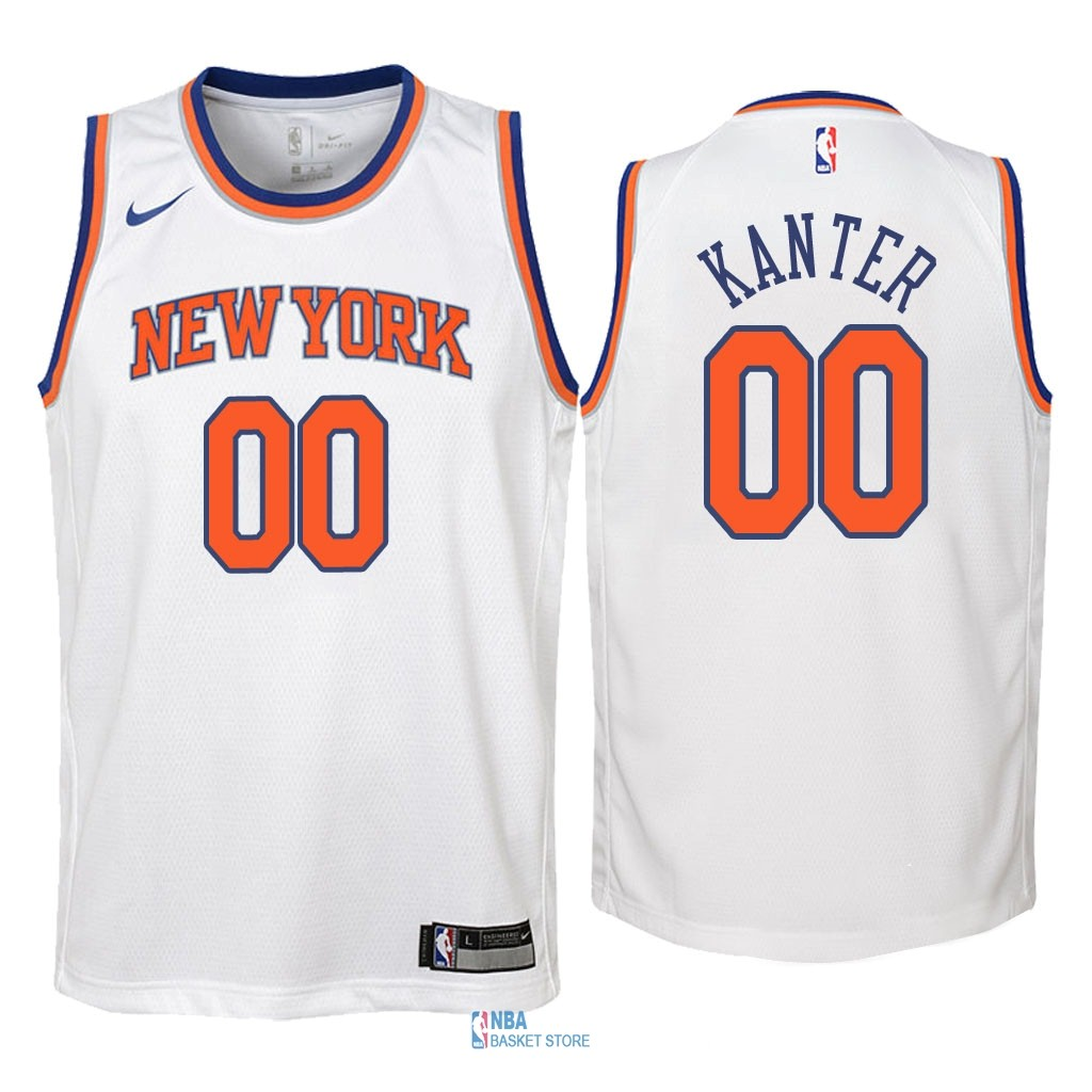 Achat Maillot NBA Enfant New York Knicks NO.0 Enes Kanter Blanc Association 2018