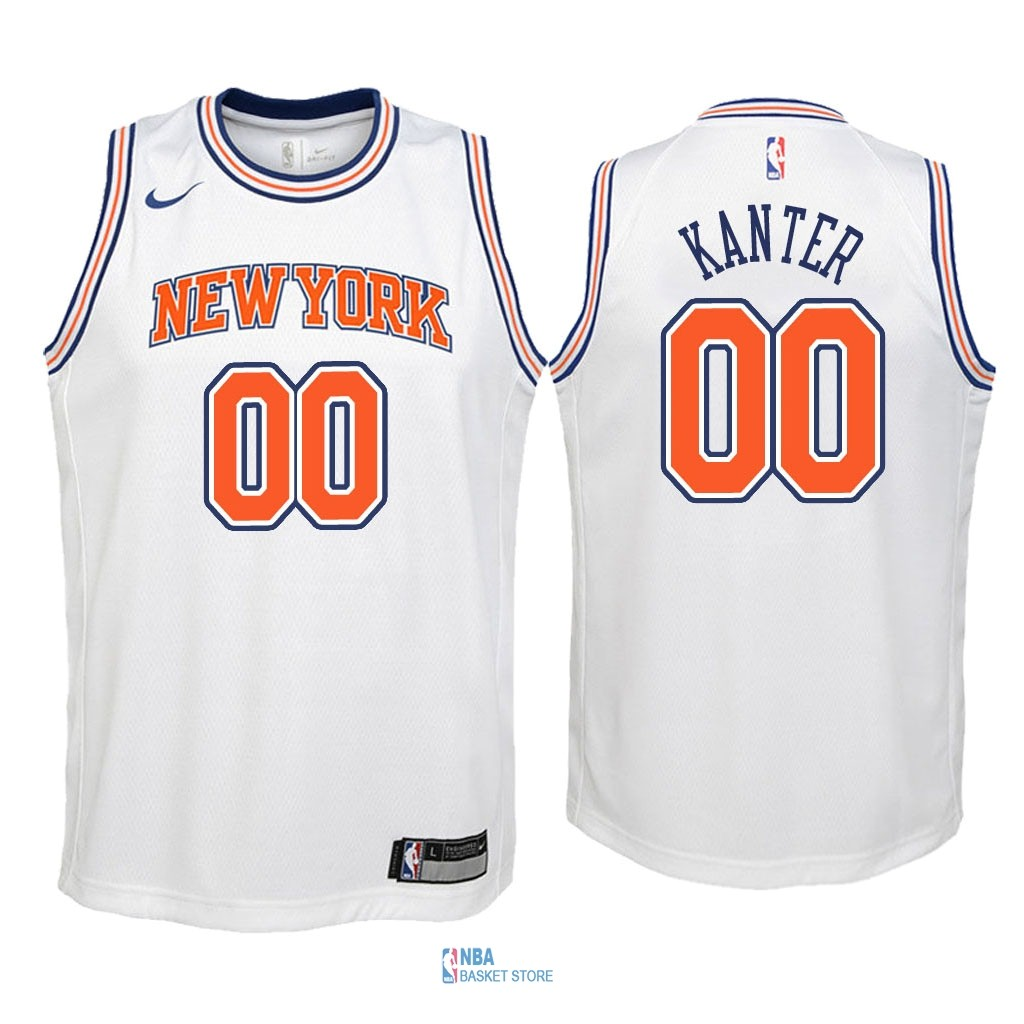 Achat Maillot NBA Enfant New York Knicks NO.0 Enes Kanter Blanc Statement 2018