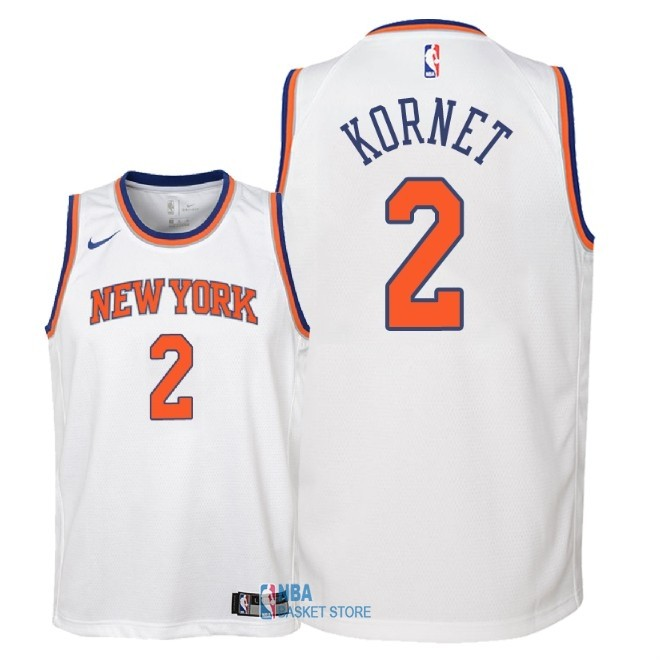 Achat Maillot NBA Enfant New York Knicks NO.2 Luke Kornet Blanc Association 2018