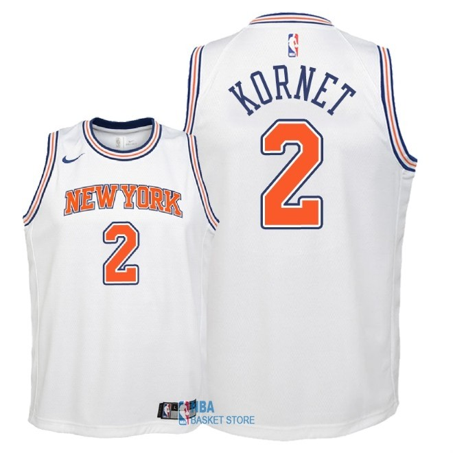 Achat Maillot NBA Enfant New York Knicks NO.2 Luke Kornet Blanc Statement 2018