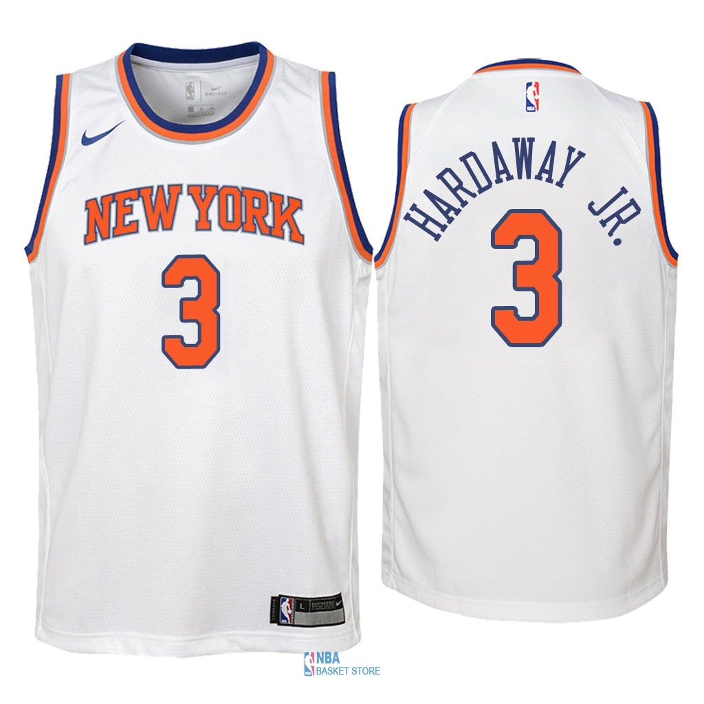 Achat Maillot NBA Enfant New York Knicks NO.3 Tim Hardaway Jr Blanc Association 2018