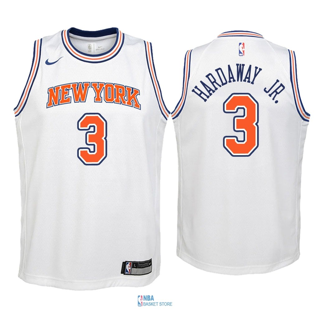 Achat Maillot NBA Enfant New York Knicks NO.3 Tim Hardaway Jr Blanc Statement 2018