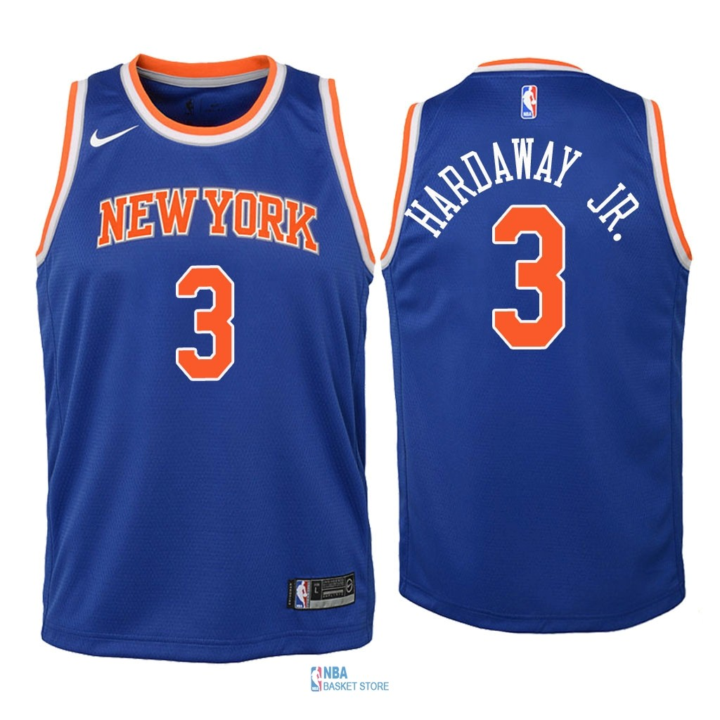 Achat Maillot NBA Enfant New York Knicks NO.3 Tim Hardaway Jr Bleu Icon 2018