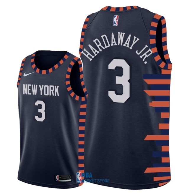 Achat Maillot NBA Enfant New York Knicks NO.3 Tim Hardaway Jr Nike Marine Ville 2018-19
