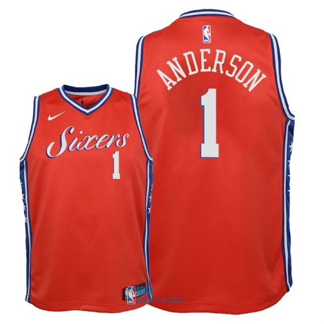 Achat Maillot NBA Enfant Philadelphia Sixers NO.1 Justin Anderson Rouge Statement 2018