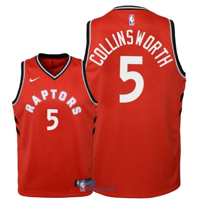 Achat Maillot NBA Enfant Toronto Raptors NO.5 Kyle Collinsworth Rouge Icon 2018