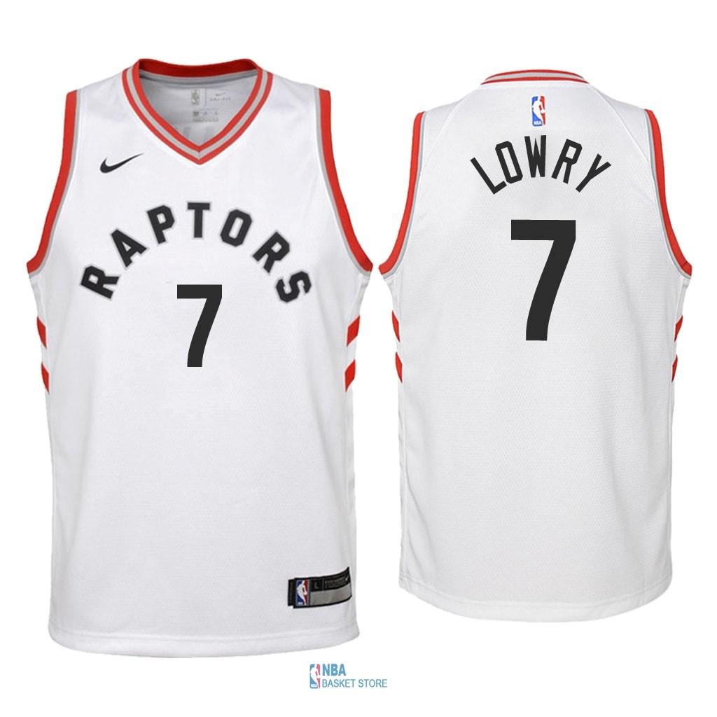 Achat Maillot NBA Enfant Toronto Raptors NO.7 Kyle Lowry Blanc Association 2018