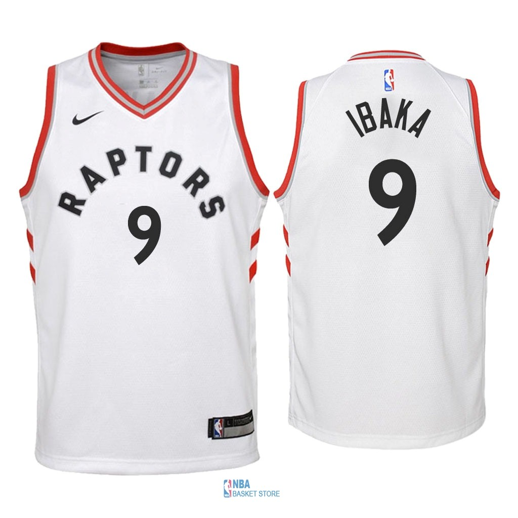 Achat Maillot NBA Enfant Toronto Raptors NO.9 Serge Ibaka Blanc Association 2018