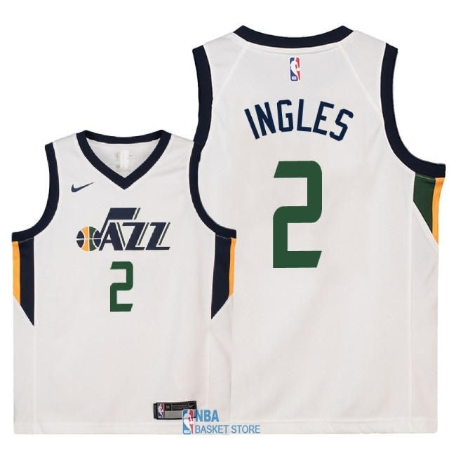 Achat Maillot NBA Enfant Utah Jazz NO.2 Joe Ingles Blanc Association 2018