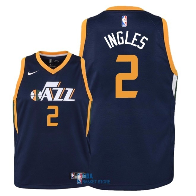 Achat Maillot NBA Enfant Utah Jazz NO.2 Joe Ingles Marine Icon 2018