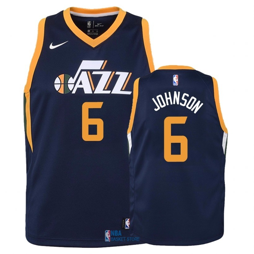 Achat Maillot NBA Enfant Utah Jazz NO.6 Joe Johnson Marine Icon 2018