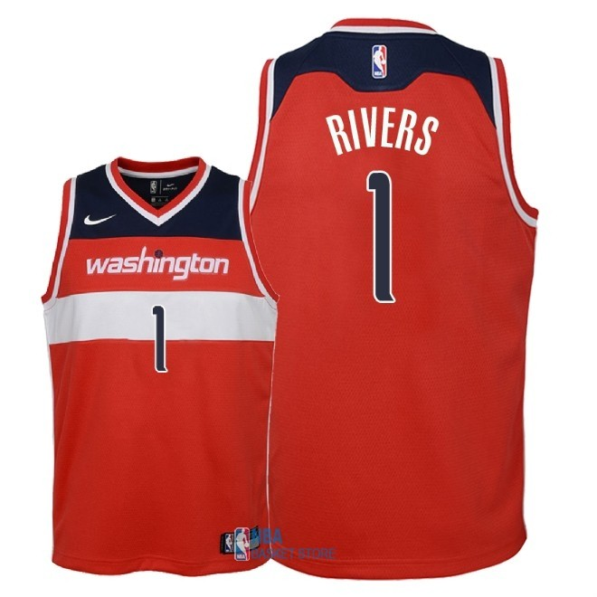 Achat Maillot NBA Enfant Washington Wizards NO.1 Austin Rivers Rouge Icon 2018
