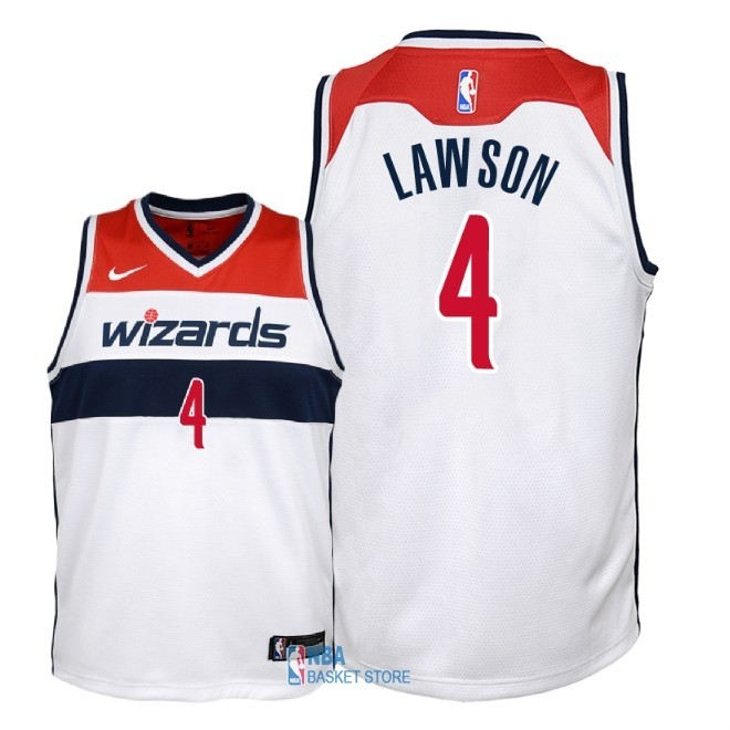Achat Maillot NBA Enfant Washington Wizards NO.4 Ty Lawson Blanc Association 2018