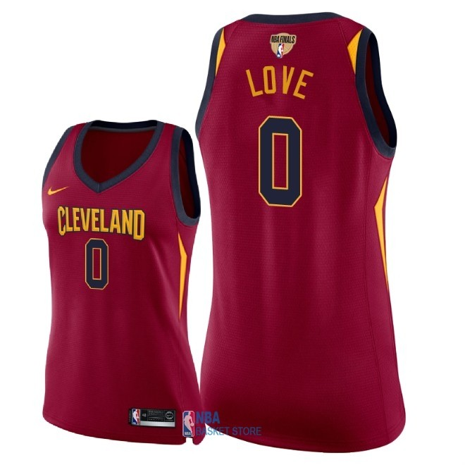 Achat Maillot NBA Femme Cleveland Cavaliers 2018 Final Champions NO.0 Kevin Love Rouge Icon Patch