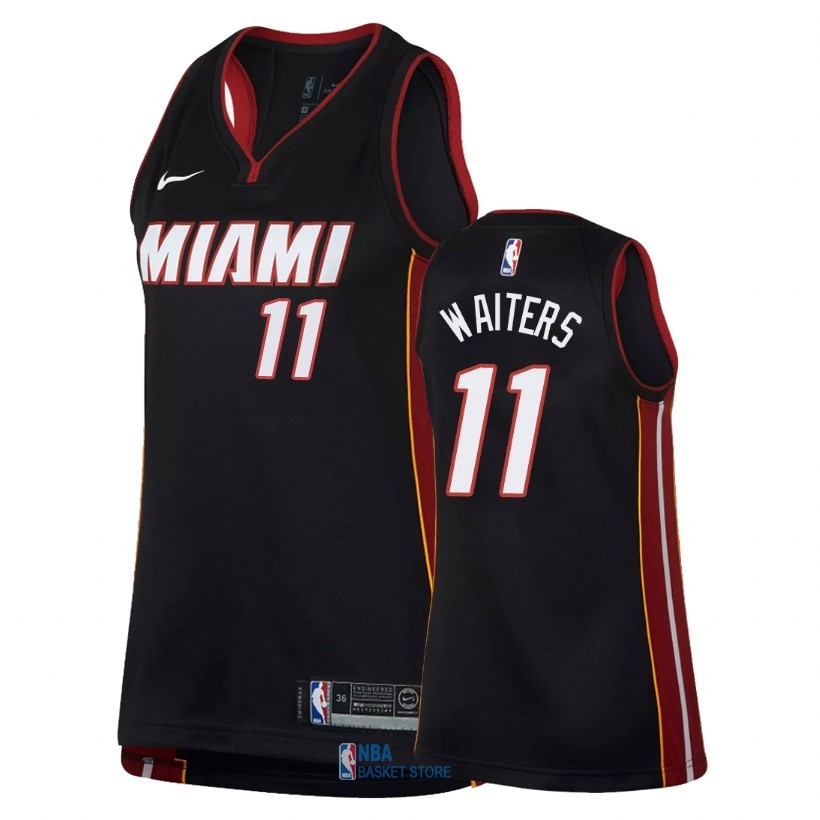 Achat Maillot NBA Femme Miami Heat NO.11 Dion Waiters Noir Icon 2018