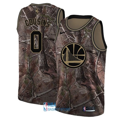 Achat Maillot NBA Golden State Warriors NO.0 DeMarcus Cousins Camo Swingman Collection Realtree 2018