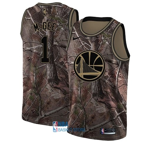 Achat Maillot NBA Golden State Warriors NO.1 JaVale McGee Camo Swingman Collection Realtree 2018