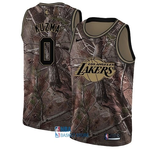 Achat Maillot NBA Los Angeles Lakers NO.0 Kyle Kuzma Camo Swingman Collection Realtree 2018