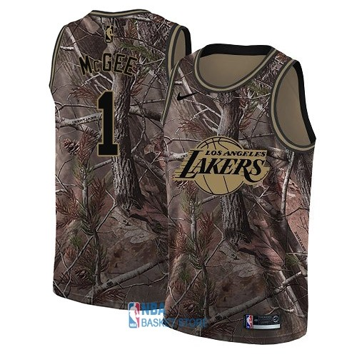 Achat Maillot NBA Los Angeles Lakers NO.1 JaVale McGee Camo Swingman Collection Realtree 2018