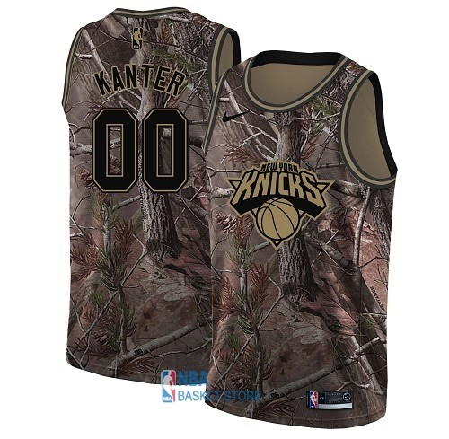 Achat Maillot NBA New York Knicks NO.0 Enes Kanter Camo Swingman Collection Realtree 2018