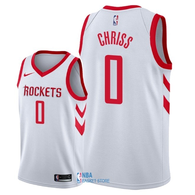 Achat Maillot NBA Nike Houston Rockets NO.0 Marquese Chriss Blanc Association 2018