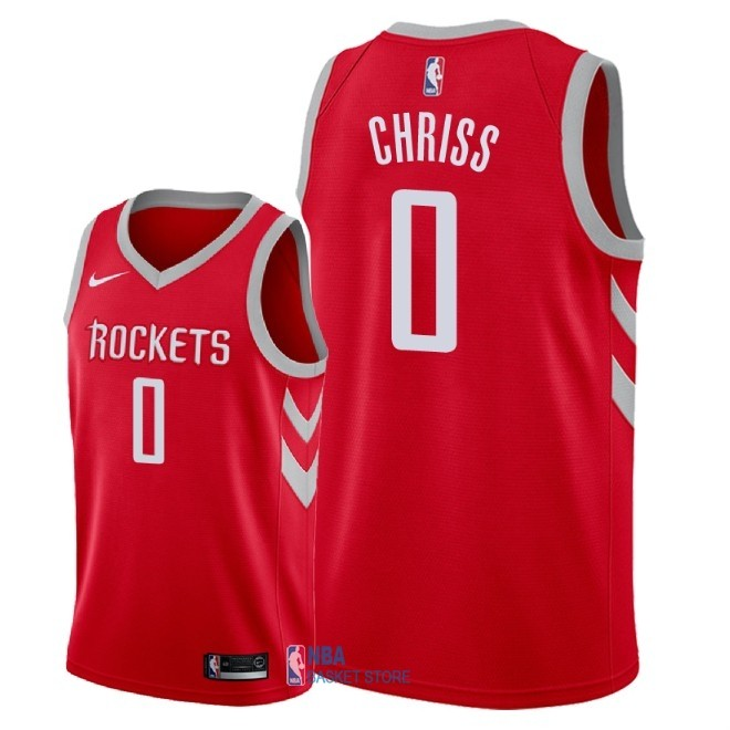 Achat Maillot NBA Nike Houston Rockets NO.0 Marquese Chriss Rouge Icon 2018
