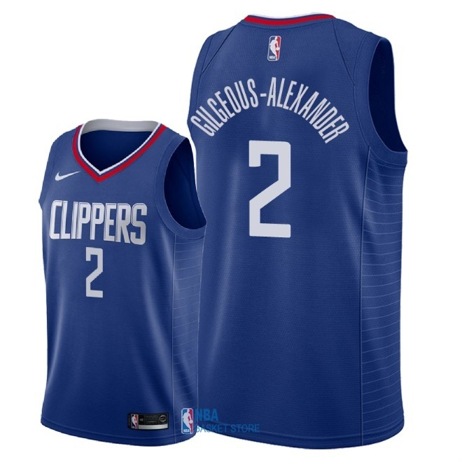 Achat Maillot NBA Nike Los Angeles Clippers NO.2 Shai Gilgeous Alexander Bleu Icon 2018