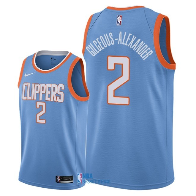 Achat Maillot NBA Nike Los Angeles Clippers NO.2 Shai Gilgeous Alexander Nike Bleu Ville 2018