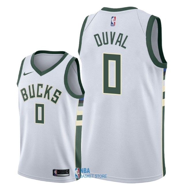 Achat Maillot NBA Nike Milwaukee Bucks NO.0 Trevon Duval Blanc Association 2018