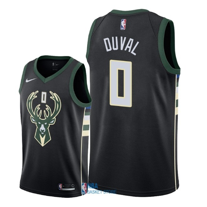 Achat Maillot NBA Nike Milwaukee Bucks NO.0 Trevon Duval Noir Statement 2018