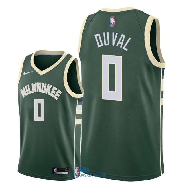 Achat Maillot NBA Nike Milwaukee Bucks NO.0 Trevon Duval Vert Icon 2018