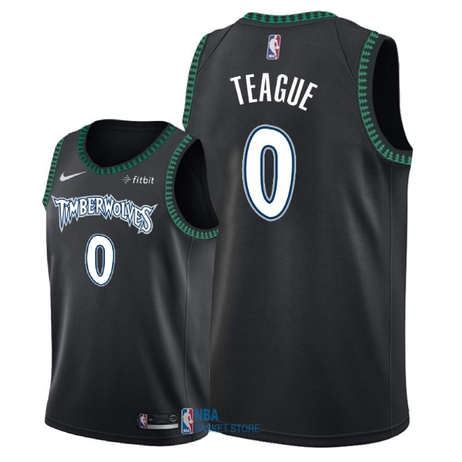 Achat Maillot NBA Nike Minnesota Timberwolves NO.0 Jeff Teague Retro Noir 2018