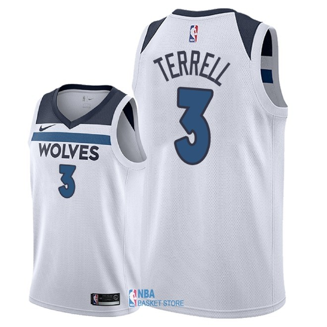Achat Maillot NBA Nike Minnesota Timberwolves NO.3 Jared Terrell Blanc Association 2018