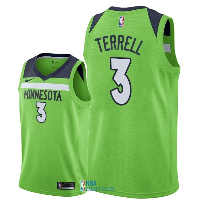 Achat Maillot NBA Nike Minnesota Timberwolves NO.3 Jared Terrell Vert Statement 2018