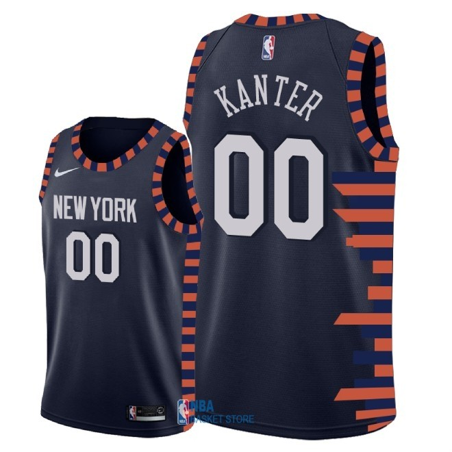 Achat Maillot NBA Nike New York Knicks NO.0 Enes Kanter Nike Marine Ville 2018-19