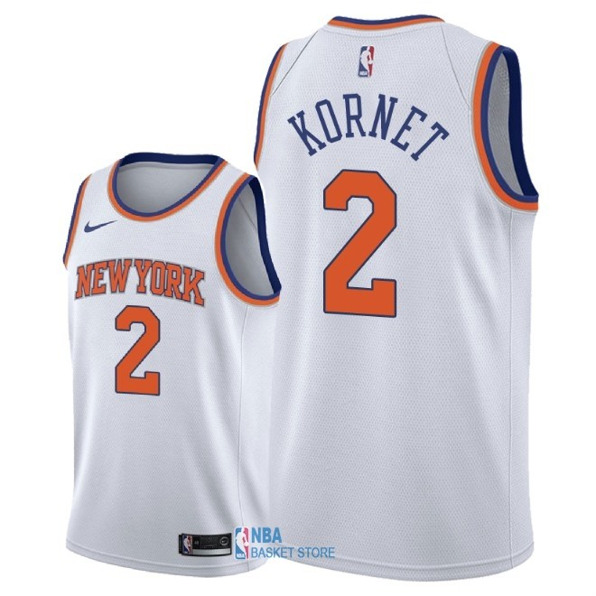 Achat Maillot NBA Nike New York Knicks NO.2 Luke Kornet Blanc Association 2018