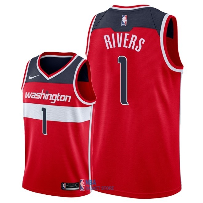 Achat Maillot NBA Nike Washington Wizards NO.1 Austin Rivers Rouge Icon 2018