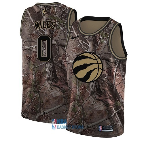 Achat Maillot NBA Toronto Raptors NO.0 C.J. Miles Camo Swingman Collection Realtree 2018