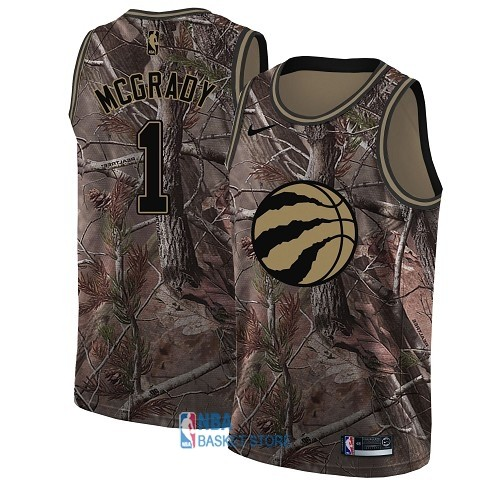Achat Maillot NBA Toronto Raptors NO.1 Tracy Mcgrady Camo Swingman Collection Realtree 2018