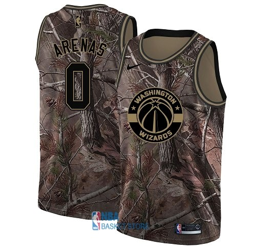 Achat Maillot NBA Washington Wizards NO.0 Gilbert Arenas Camo Swingman Collection Realtree 2018